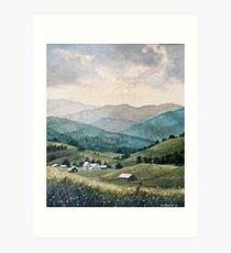 Mountain Valley Farm Art Print