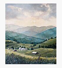 Mountain Valley Farm Photographic Print