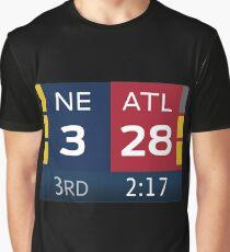 Patriots 28-3 Super Bowl Scoreboard Graphic T-Shirt