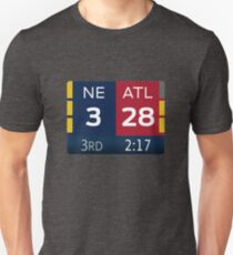 Patriots 28-3 Super Bowl Scoreboard T-Shirt