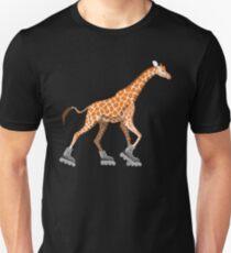 Giraffe on Roller Blades Unisex T-Shirt