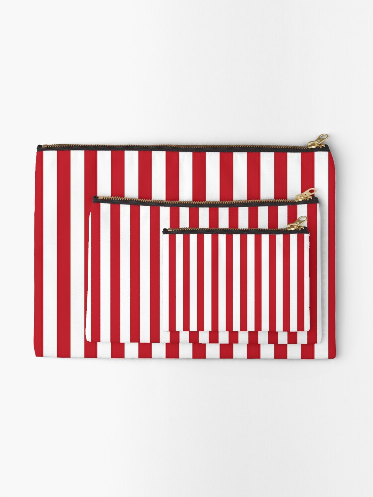 Alternate view of Red and White Stripes | Stripe Patterns | Striped Patterns | Zipper Pouch