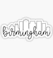 cityscape outline - birmingham Sticker