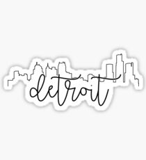 cityscape outline - detroit Sticker