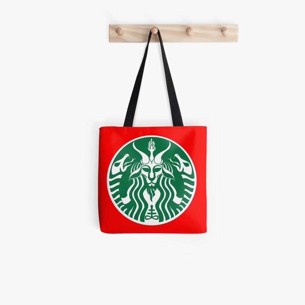Red Cup Baphomet Tote Bag