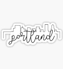 cityscape outline - portland Sticker