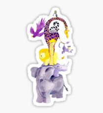 Amazing balancing acrobatic animals Sticker