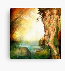 Tree Elves Canvas Print