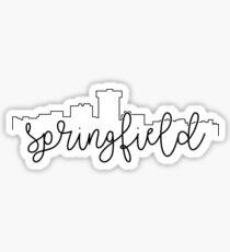 cityscape outline - springfield Sticker