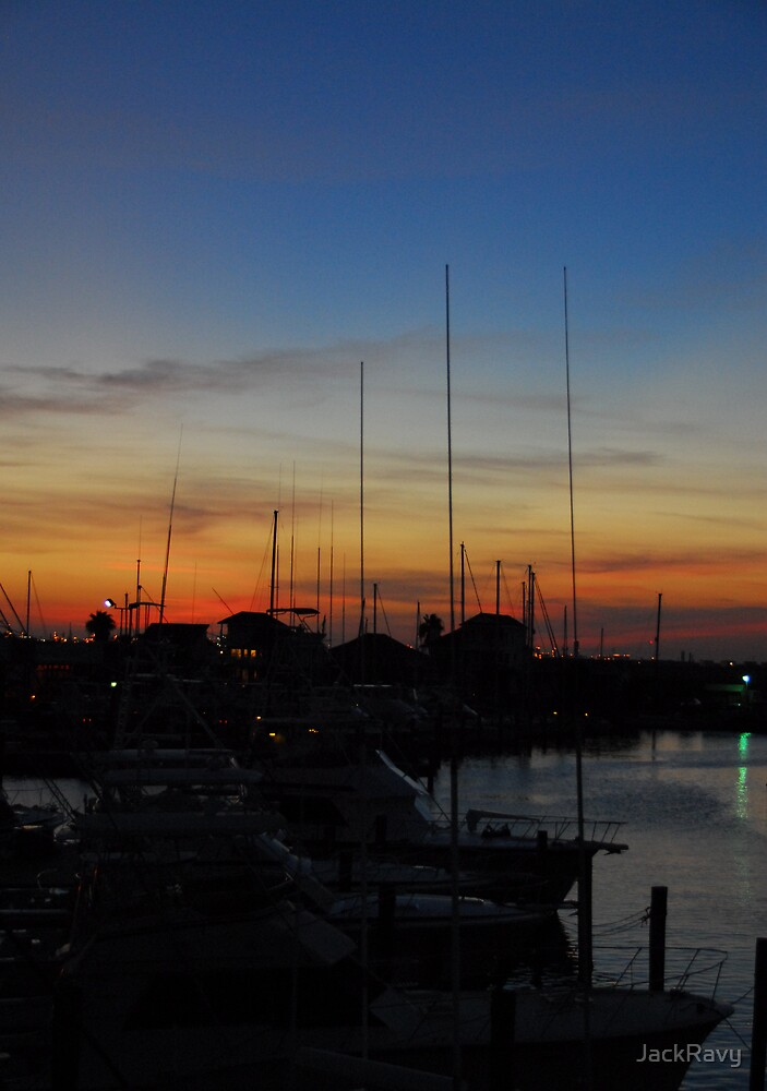 Harbor Sunset by JackRavy