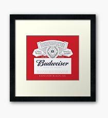 Lámina enmarcada Budweiser