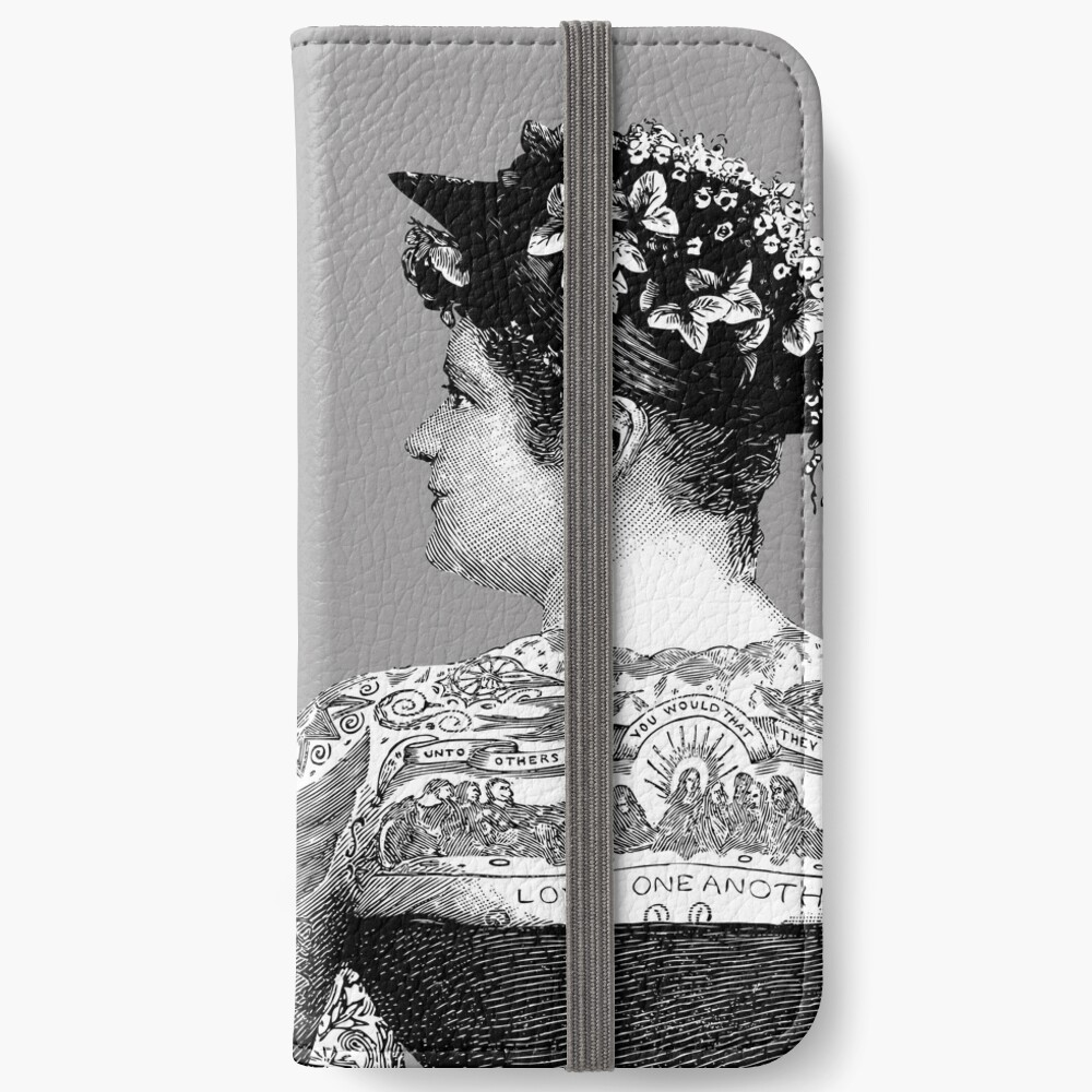 Tattooed Victorian Lovers | Tattooed Couple | Victorian Tattoos | Vintage Tattoos | Tattoo Art |  iPhone Wallet