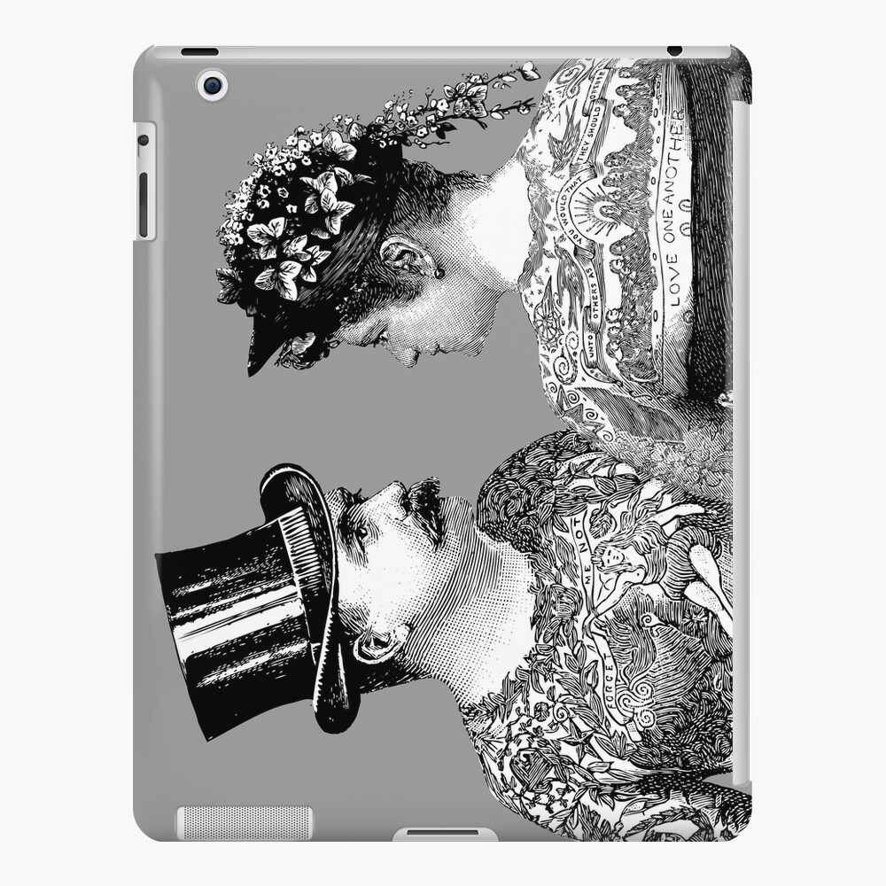 Tattooed Victorian Lovers | Tattooed Couple | Victorian Tattoos | Vintage Tattoos | Tattoo Art |  iPad Snap Case