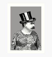 Tattooed Victorian Man Art Print