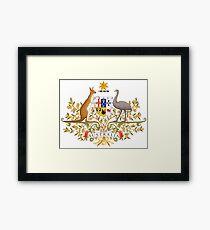 Australian Commonwealth Coat of Arms on White Framed Print