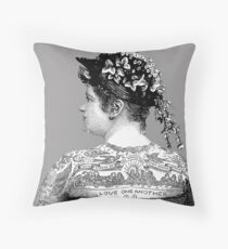 Tattooed Victorian Woman Floor Pillow