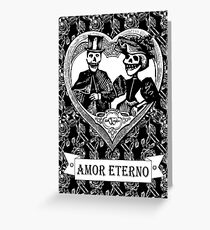 Amor Eterno | Eternal Love | Black and White Greeting Card