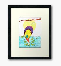 Fish standoff Framed Print
