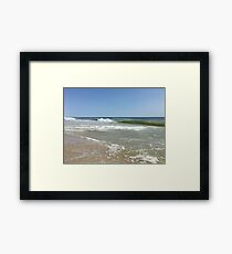 Long Island Waves Framed Print