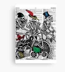 Calavera Cyclists Canvas Print