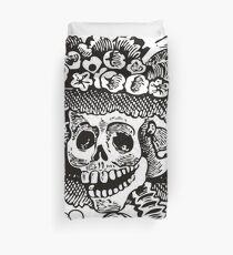 Calavera Catrina | Black and White | Day of the Dead | Dia de los Muertos Duvet Cover