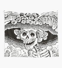 Calavera Catrina | Black and White | Day of the Dead | Dia de los Muertos Wall Tapestry
