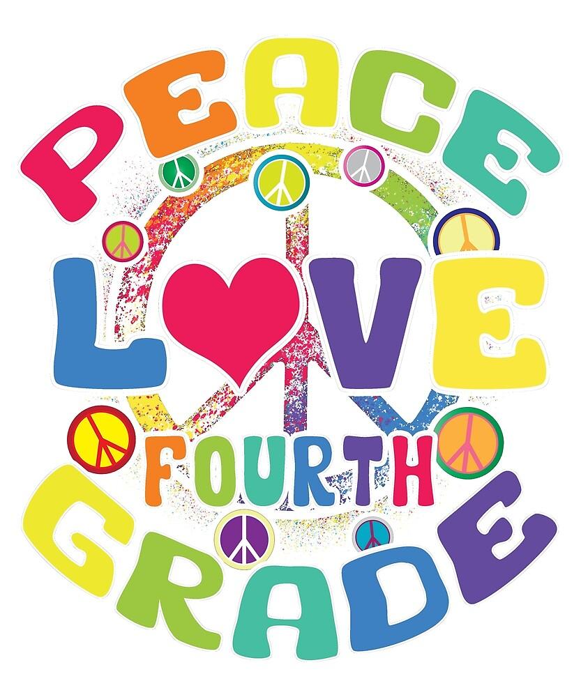Peace Love Cuarto Grado» de karmcg | Redbubble