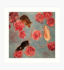 3 mice Art Print
