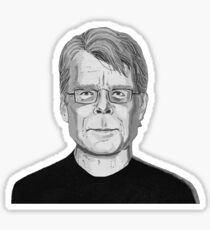 Stephen King gray Sticker