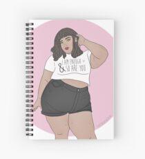 I Am Enough Spiral Notebook
