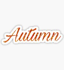 Autumn, Glitter Orange Fall Sticker Halloween Winter Sticker