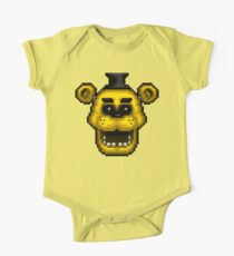 Five Nights at Freddy's 1 - Pixel art - Golden Freddy One Piece - Short Sleeve