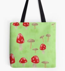 Toadstool & Mushrooms Tote Bag