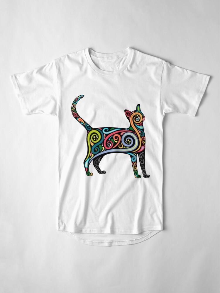Alternative Ansicht von Künstlerische Miezekatze Longshirt