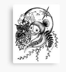 Quédate luna 02 Canvas Print