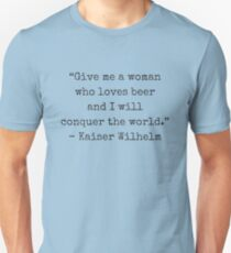 Wilhelm and beer. Unisex T-Shirt