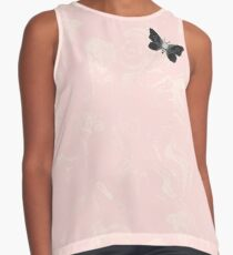 Moth on Pink Marble Contrast Tank