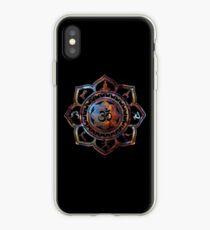 Om Lotus Flower Yoga Poses iPhone Case
