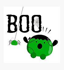 Halloween - Boo to You Mochi and Friends Photographic Print