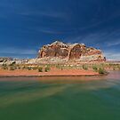 Castle Rock and Lake Powell by Yair Karelic