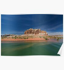 Castle Rock and Lake Powell Poster