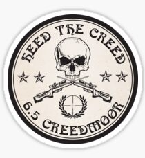 Heed The Creed On Black Sticker