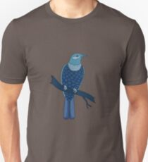 blue bird illustration red Unisex T-Shirt