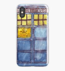 Police Box Watercolor iPhone Case/Skin