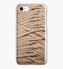 Chocolate Brown Yarn Texture Close Up iPhone Case/Skin