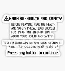 PRESS ANY BUTTON Sticker