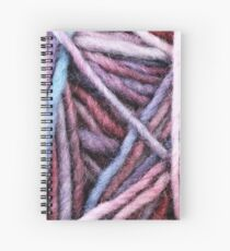 Pastel Colored Yarn Texture Close Up Spiral Notebook