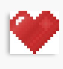 8-bit luv Canvas Print