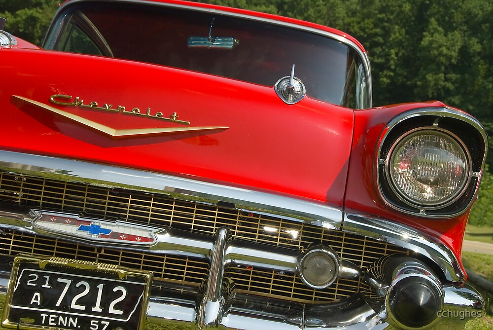 Red '57 Chevy by cchughes