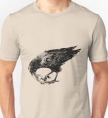 CROW EATING A CANDY BAR Unisex T-Shirt